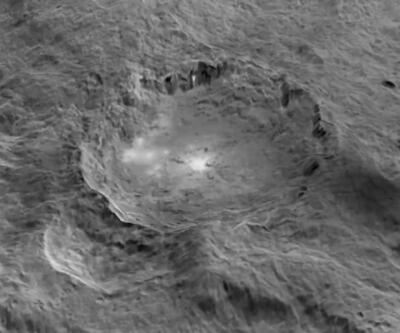 Gizemli cüce gezegen Ceres'in kuşbakışı görüntüleri