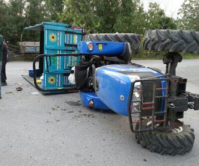 Fındık bahçesinden dönen traktör devrildi: 18 kadın işçi yaralandı