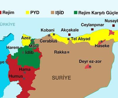 Suriye'nin kuzeyinde Tel Abyad'ı da içeren yeni Kürt kantonu