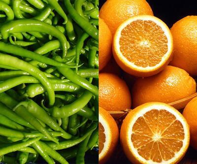 Sivri biber üzdü, portakal sevindirdi