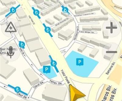 Yandex Navigasyon 'boş park yerlerini' gösterecek
