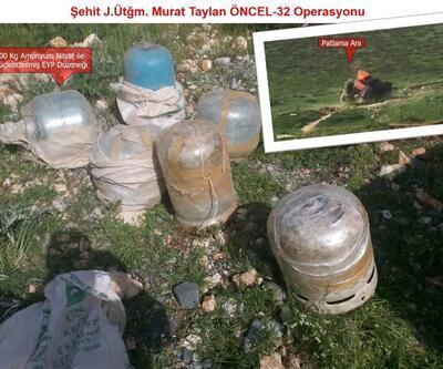 PKK'lılar yarım ton patlayıcı yerleştirmiş