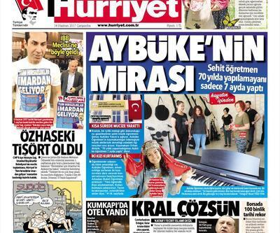 14 Haziran 2017 - Gazete manşetleri