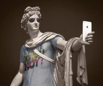Eski heykele yeni kıyafet