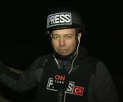 CNN TÜRK ekibi çatışmanın yanıbaşında: PYD mermileri bir evin avlusuna düştü