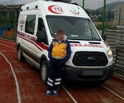 Ambulans sürücüsüne gizli fotoğraf çekiminden gözaltı