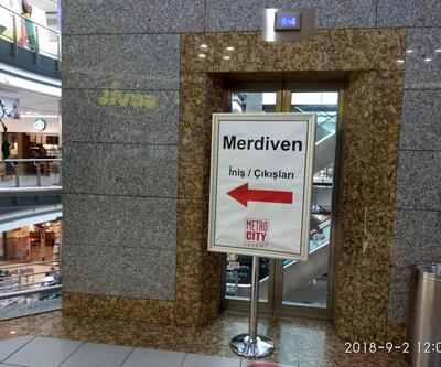 Metrocity AVM'nin yürüyen merdivenlerinin neden söküldüğü belli oldu