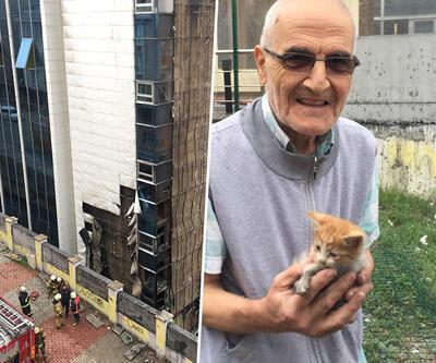Yavru kedileri kurtarmak için yanan huzurevine daldı