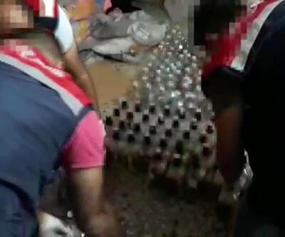 Satışa hazır sahte içkiler ele geçirildi