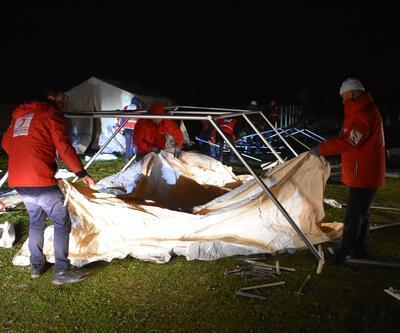 Kızılay'dan Manisa'da deprem tatbikatı