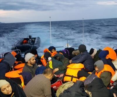 Botları sürüklenen göçmenlerin imdadına Sahil Güvenlik yetişti