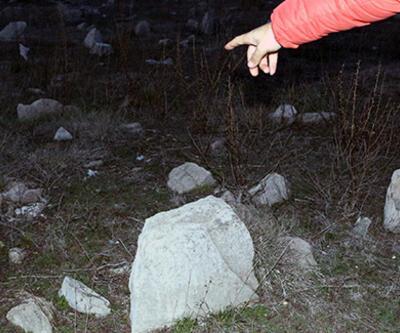 Baraj suları çekilince mezarlık ortaya çıktı