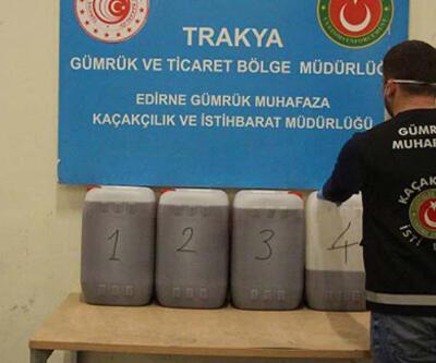 Kapıkule Sınır Kapısı'nda 115 kilogram asetik anhidrit ele geçirildi