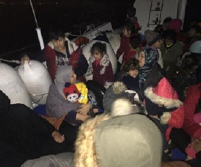 Çoğu kadın ve çocuk 54 kaçak göçmen yakalandı