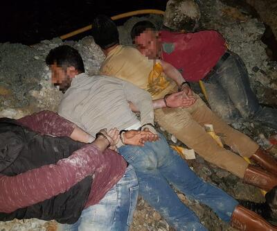 Kaçak kazı yaparken suçüstü yakalandılar: 8 gözaltı