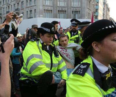 Londra'daki çevreci işgal eyleminde gözaltı sayısı 340 oldu