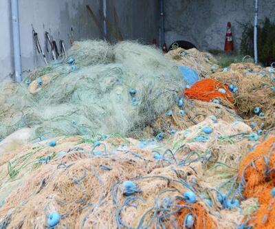 Kaçak avlanan balıkçılara ait 45 bin metre balık ağı ele geçirildi