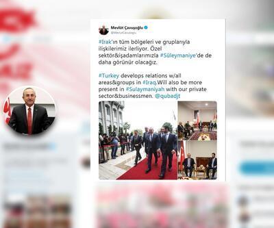 Dışişleri Bakanı Mevlüt Çavuşoğlu Erbil'deydi