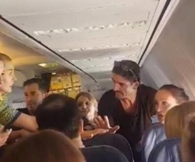 Uçakta 'sarhoş yolcu' rezaleti