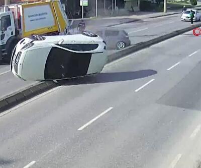 Sakarya'da kaza anı kameraya böyle yansıdı