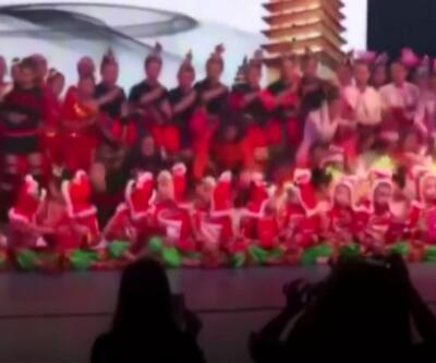 Çin'de dans gösterisi faciaya dönüştü