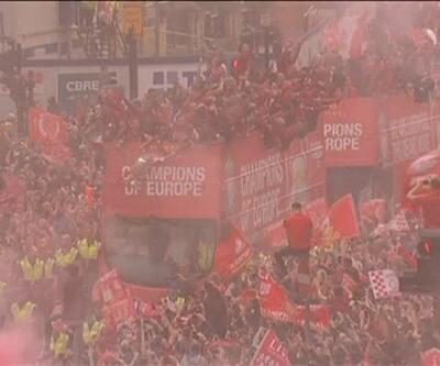Liverpool'da görkemli kutlama