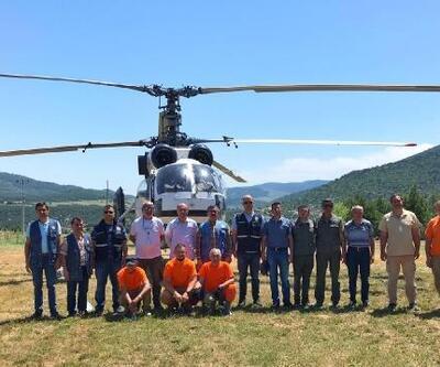 Yangın söndürme helikopteri Bucak'ta