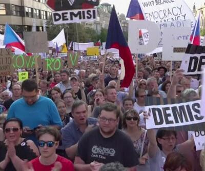 Çekya'da protestolar