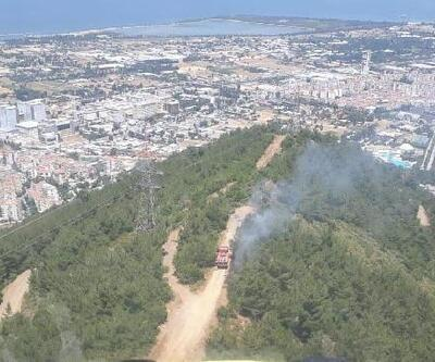 İzmir'de çıkan orman yangınında 1 dönümlük alan zarar gördü