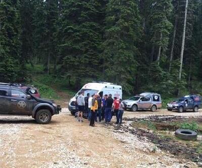 Ormanda kullandığı bisikleti devrilen genç yaralandı