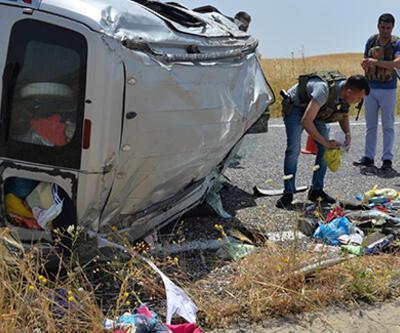 Diyarbakır'da feci kaza: 1 ölü, 6 yaralı