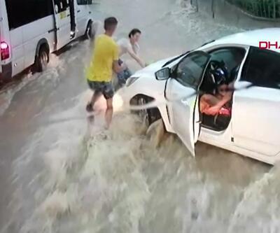 Suya kapılan çocuk son anda kurtarıldı