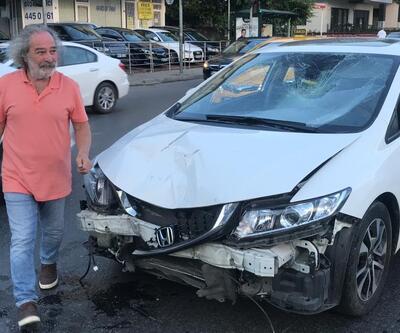 Ünlü oyuncunun çarptığı motosiklet sürücüsü ağır yaralandı