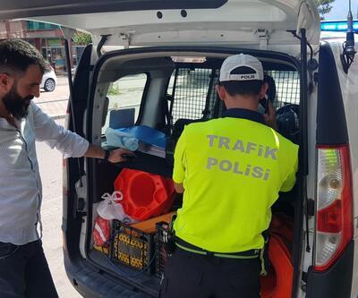 Trafik denetiminde 36 sürücüye 12 bin 22 TL ceza