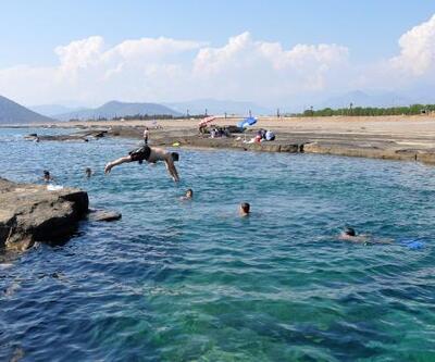 Gazipaşa'nın doğal havuzları hayran bırakıyor