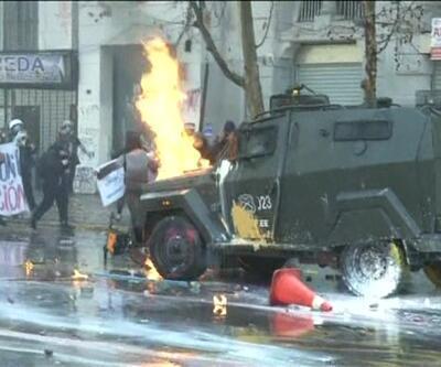 Şili'de öğrenci protestoları