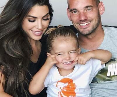 Wesley Sneijder, eşi Yolanthe Cabau ile anlaştı: Dokuz yıla 15 milyon euro ödeyecek!