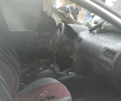 Patlayan cep telefonu arabayı yaktı