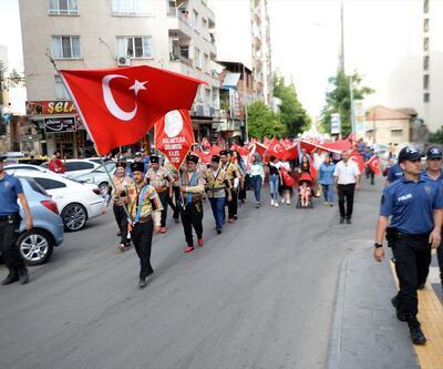 Kilis'te 15 Temmuz yürüyüşü