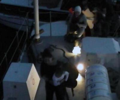 Ahşap teknede 34 kaçak göçmen yakalandı