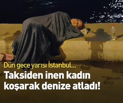 Zeytinburnu'nda yaşandı! Taksiden inen kadın koşarak denize atladı