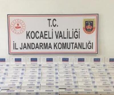 Gebze'de 4 bin 400 paket kaçak sigara ele geçirildi