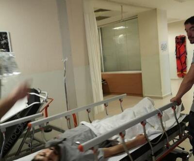 Kaçak akıma kapılan işçi tedavi altına alındı