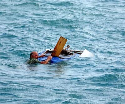 Denize düştü, 2 saat dalgalarla boğuştu