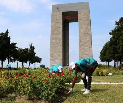 Denetimli serbestlik yükümlülerinden Şehitler Abidesi'nde temizlik