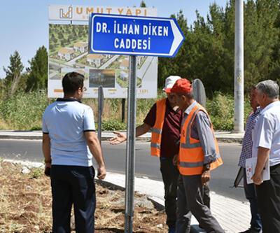 HDP'li belediyenin astığı, terör suçlusunun adını taşıyan tabela indirildi