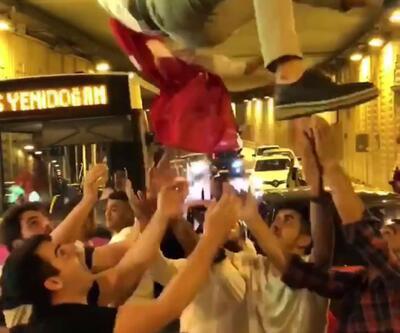 İstanbul'da şoke eden görüntüler: Tünel kapatıp havaya ateş açtılar