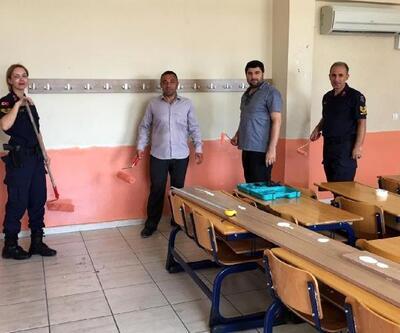 Askerler ve öğretmenler okulu boyadı