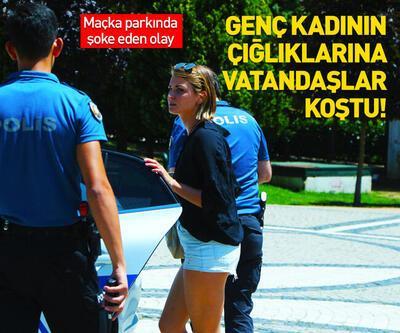 Maçka Parkı'nda genç kadına kapkaç şoku