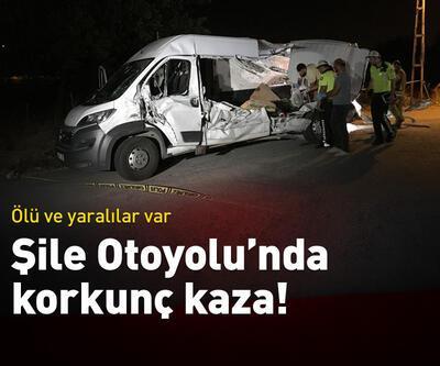 Şile Otoyolu'nda korkunç kaza!